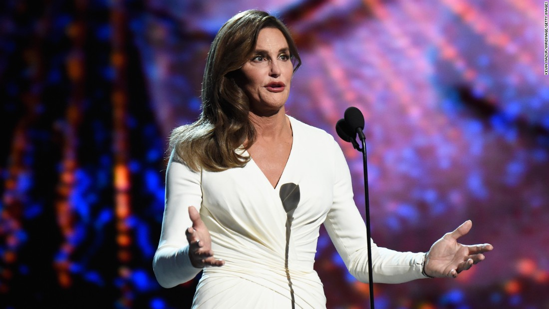 "<strong>July 15:</strong> Caitlyn Jenner <a href=""http://money.cnn.com/2015/07/15/media/espys-caitlyn-jenner-arthur-ashe-award/"" target=""_blank"">accepts the Arthur Ashe Courage Award</a> during the ESPYs in Los Angeles. In her first speech since identifying as transgender, Jenner said she wants to ""reshape the landscape of how trans issues are viewed."" <a href=""http://www.cnn.com/2015/02/06/entertainment/gallery/bruce-jenner/index.html"" target=""_blank"">See Jenner's journey from Bruce to Caitlyn</a>"