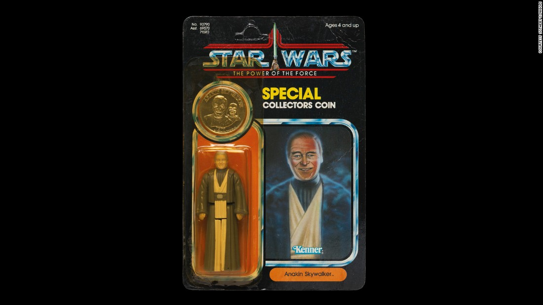 "A very limited release, this figurine went for 50% more than predicted. Context would explain why: old Anakin, dressed in his Jedi robes, was expunged by Lucas in the Blu Ray editions of ""Return of the Jedi,"" replaced by the younger and much-maligned Hayden Christensen from the prequels, much to the chagrin of fans. The implication therefore was the Anakin no longer died as a Jedi, completely altering the redemptive narrative Lucas had spent three films setting up."