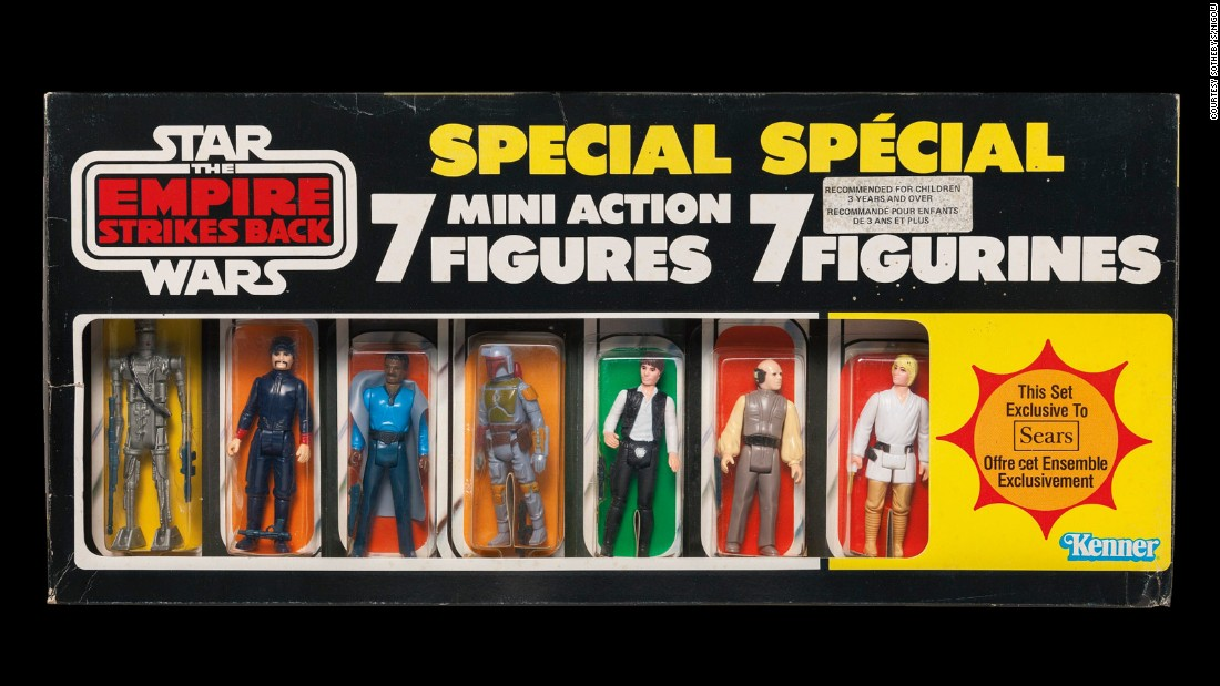 Sold almost exclusively through Sears Canada in 1980, this extremely rare set of figurines including Boba Fett, Luke Skywalker and Han Solo was the top-selling lot at the auction. Estimated to sell for between $8,000-12,000, in the end the set went for a handsome $32,500.