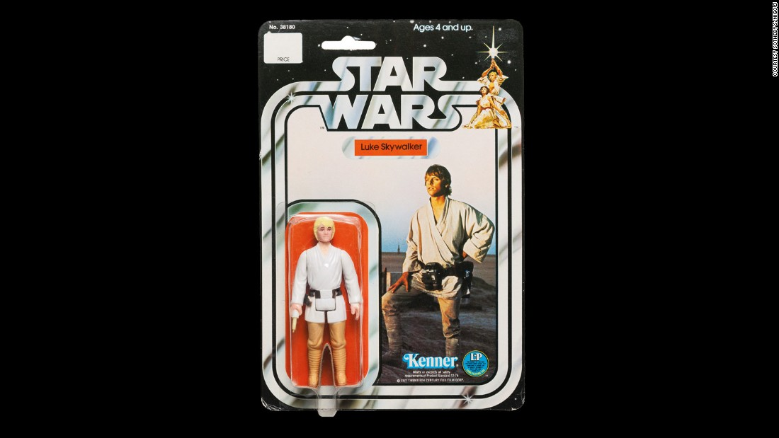 Before the auction this doll was figured to be the most valuable lot. Consultant James Gallo, who spent a week and a half sifting through NIGO's collection, valued the item at between $12,000-18,000. The rare figurine has a double-telescoping lightsaber, and was removed from production swiftly due to the lightsaber's propesity for snapping.