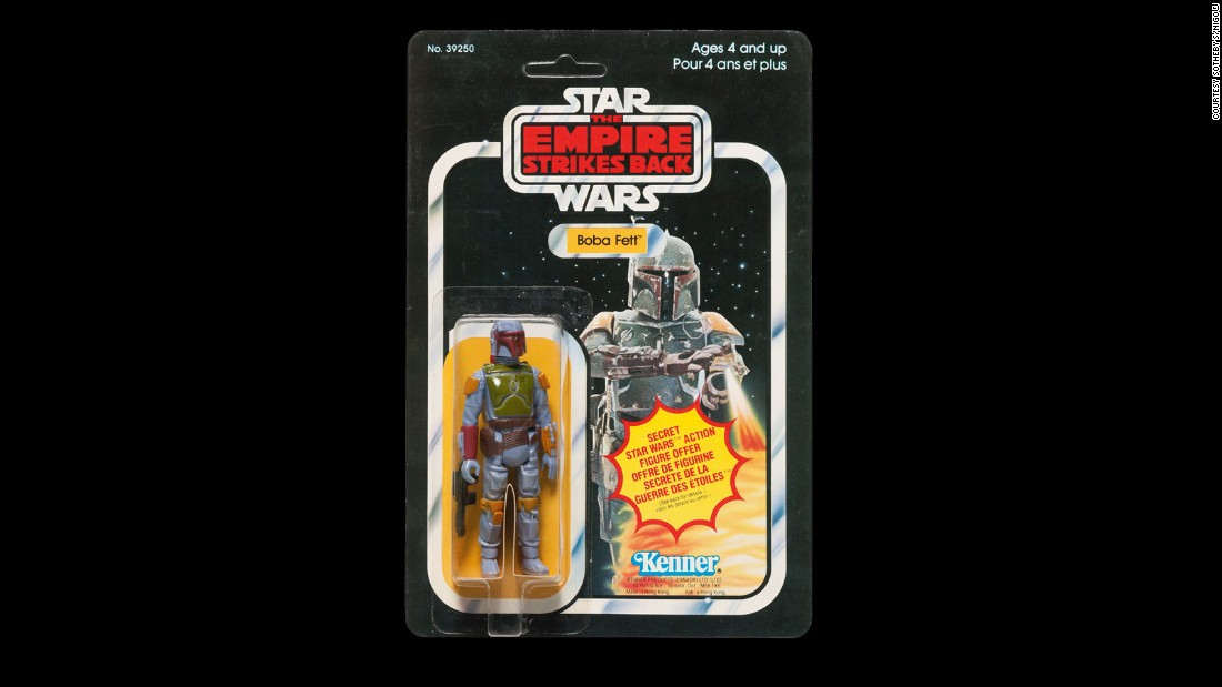 As previously mentioned, the Mandalorian clone and bounty hunter was a popular item on sale, and this figurine, from Canada, went for over $2,000.<br />