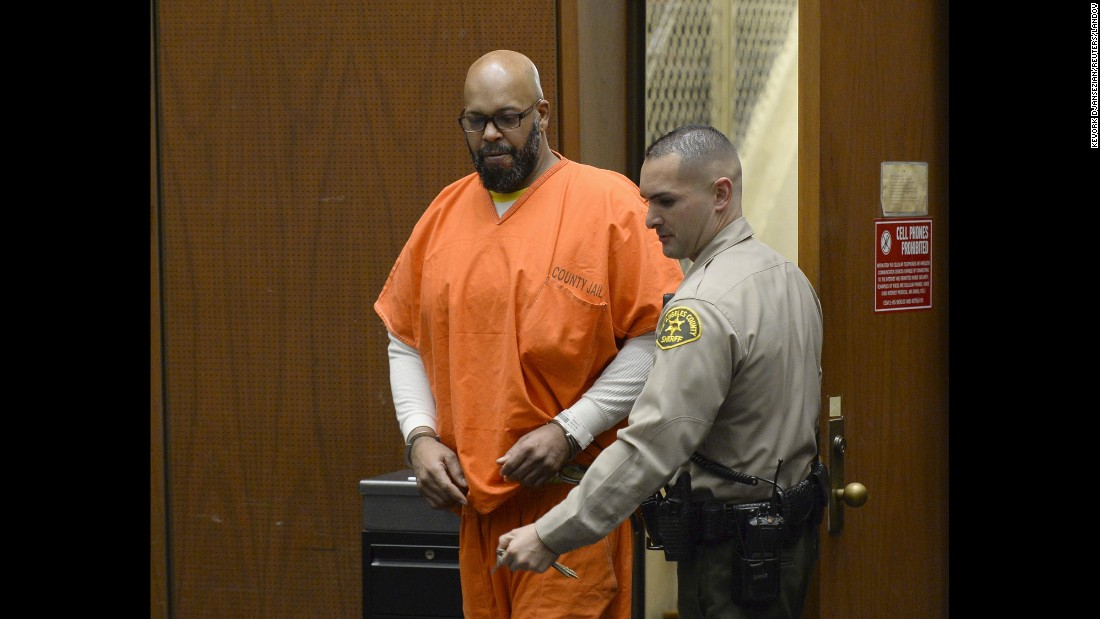 """<strong>April 30:</strong> Former rap mogul Marion """"Suge"""" Knight appears in court for his arraignment hearing in Los Angeles. <a href=""""http://www.cnn.com/2015/04/16/us/suge-knight-murder-court-trial/index.html"""" target=""""_blank"""">He was ordered to stand trial</a> for murder and other charges stemming from a hit-and-run confrontation that left one man dead and another injured earlier this year. Knight has pleaded not guilty."""