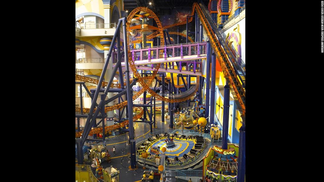 The ride that loops and turns inside the mall is the star attraction at Berjaya Times Square.