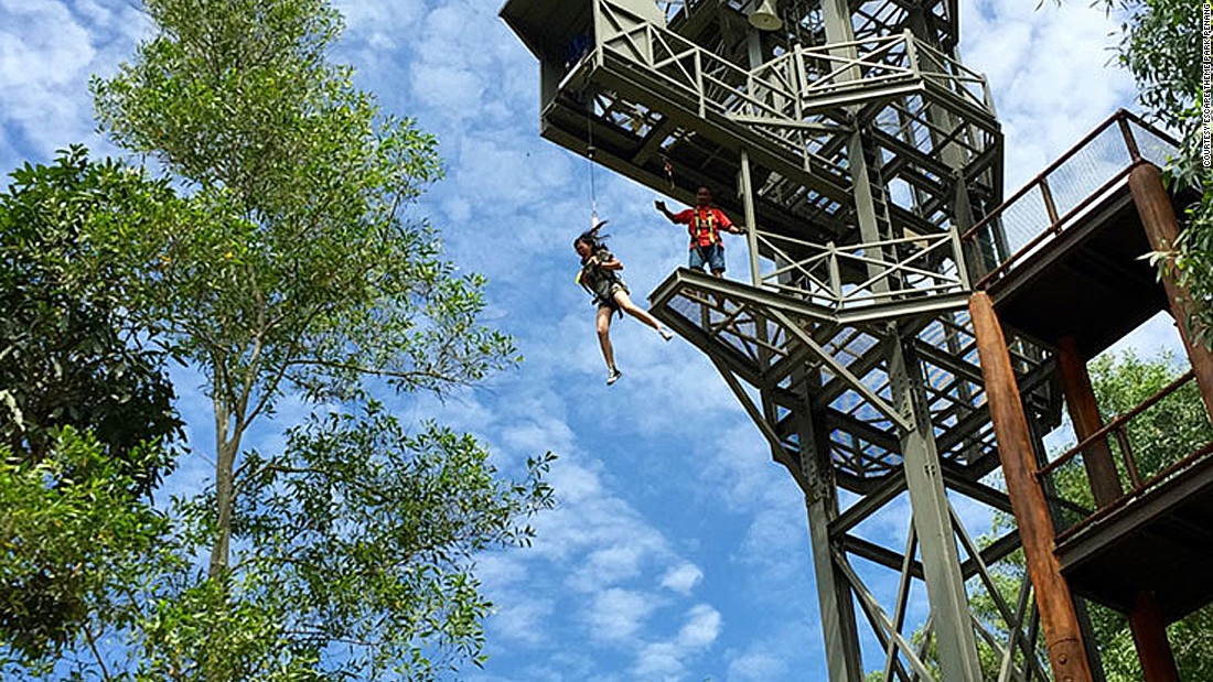 The good old-fashioned fun found in Escape Theme Park Penang  doesn't require cutting-edge technology -- just the bravery to leap into the air.