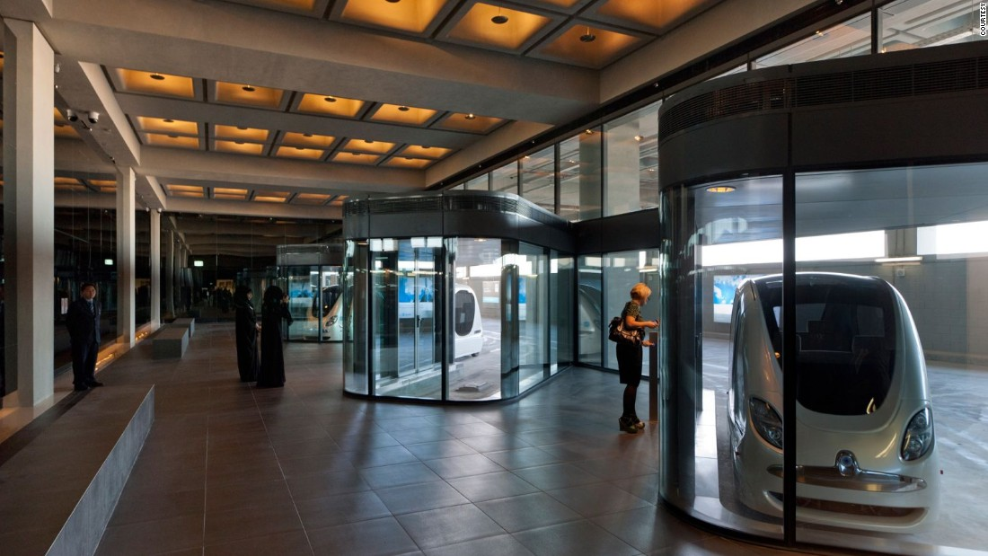 "the city currently uses driverless pods known as ""personal rapid transit"" (PRT) carts."