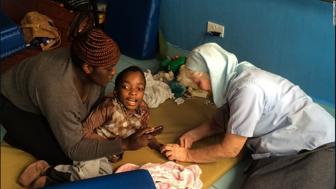 Sister Mary Killeen, right, has been working in the slums of Nairobi, Kenya, for nearly 40 years. On Friday, she'll be addressing Pope Francis, who is on his first visit to the continent.