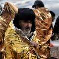 refugees cold foil lesbos
