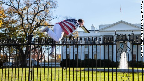 The U.S. Secret Service apprehended a man Thursday, November 26, 2015 after he jumped over a White House fence as the first family was inside celebrating Thanksgiving. The man, who jumped over a fence on the North Lawn, was almost immediately detained by Secret Service officers.