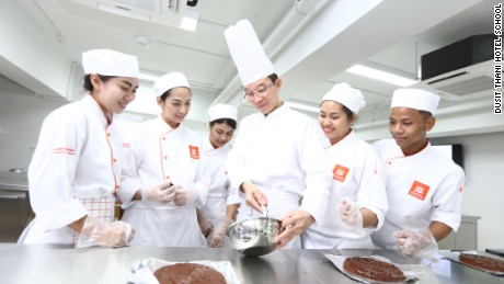 Dusit Thani runs a cookery school in conjunction with famous French culinary school, Le Cordon Bleu