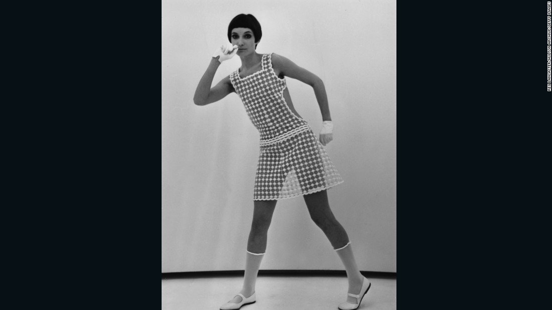 """He was actually dressing the real woman of the 1960's — a modern woman who drove, rather than sipping cocktails at home.""<br /><em><br />A model wears André Courrèges, 1967 </em>"