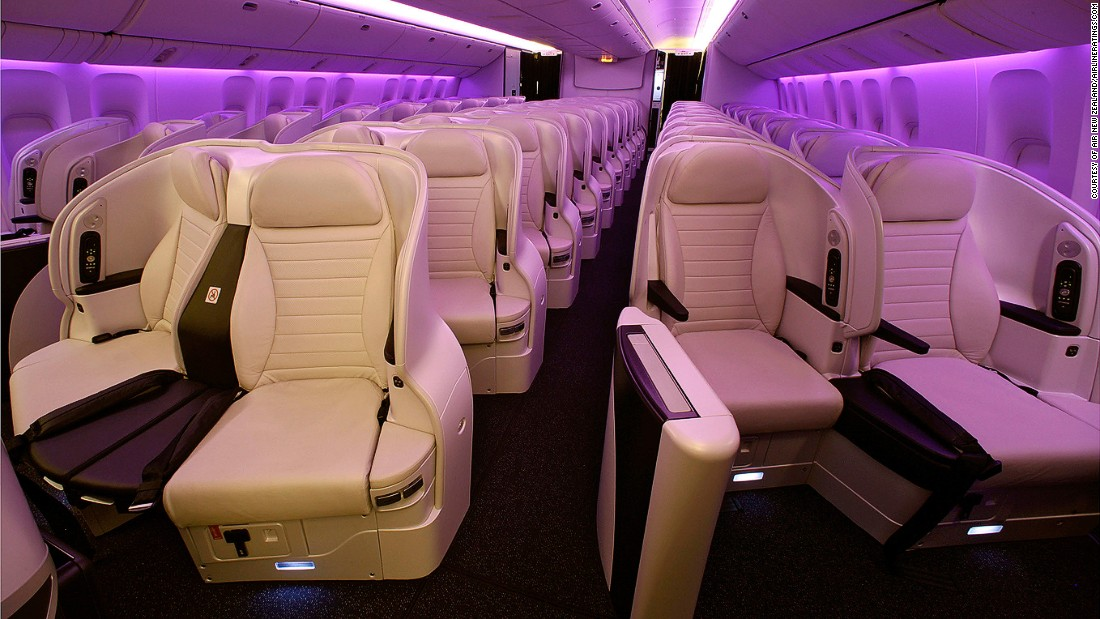 "Air New Zealand also won awards for Best Economy and Best Premium Economy (pictured). AirlineRatings.com's Geoffrey Thomas says: ""The airline has rolled out some stunning new technology including innovative tracking of unaccompanied children and a wonderful app to get you a perfect cup of coffee before your flight."""