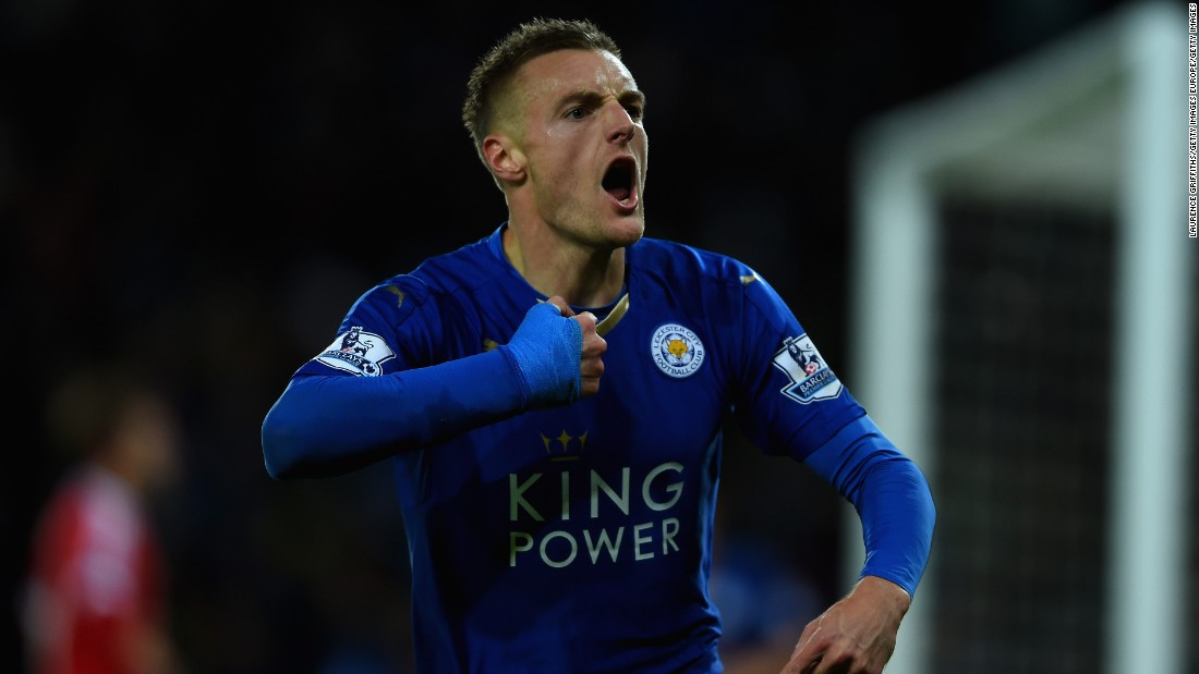 Jamie Vardy is one of the key reasons for Leicester's success. He has been in sensational form and recently set a new EPL record by scoring in 11 consecutive matches.