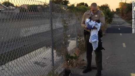 Newborn was found under asphalt along popular Compton walking path