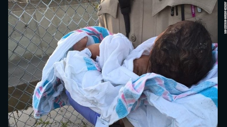 Cops: Baby found buried alive