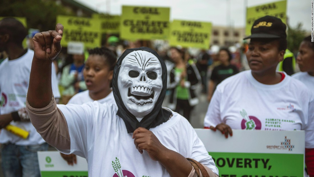 Some 700 people from different climate justice movements gather in the Johannesburg, South Africa, focusing on the continued reliance of coal as a primary source of generating electricity.