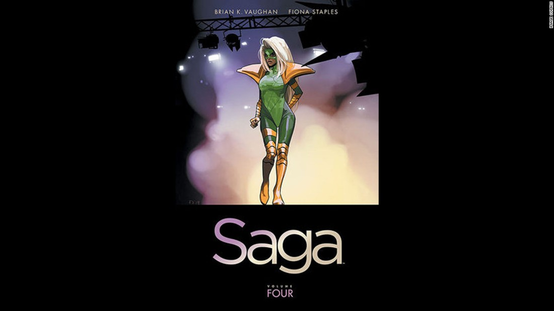 "Though the previous Saga books have all been nominated, ""Saga, Volume 4"" by Brian K. Vaughan and Fiona Staples finally won in the graphic novel and comics category."