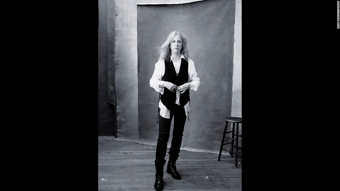 """It was scary at the time to undertake a subject like that because I was actually against it, because I thought it was too broad of a subject,"" Leibovitz says of her original 'Women' series. This portrait of singer Patti Smith features in the 2016 Pirelli calendar."
