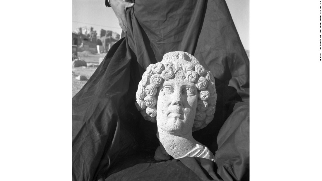 Stolen head that was not retrieved, Hatra, Iraq, c.1960s
