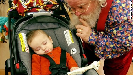 Zeke falls asleep again when he meets Santa the second time
