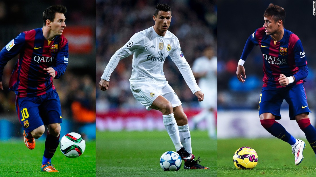 <strong>November 30, 2015:</strong> Messi, Ronaldo and Neymar are nominated for the 2015 FIFA Ballon d'Or award, that recognizes the world's best player. The winner will be announced in Zurich in January.