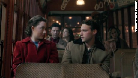 "Eilis and Tony, in a scene from ""Brooklyn,"" starring Saoirse Ronan and Emory Cohen."