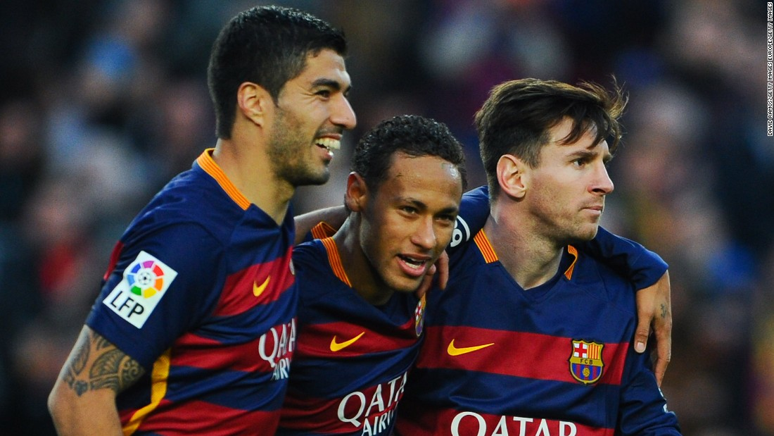 <strong>November 28, 2015: </strong>Barcelona's talented treble were all on the scoresheet as Real Sociedad were thumped 4-0 at the Camp Nou, Neymar grabbing two. The win maintained Barca's four-point lead at the top of La Liga.