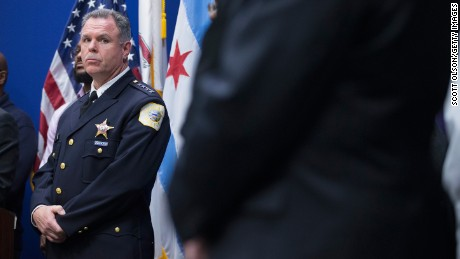 CHICAGO, IL - NOVEMBER 24:  Chicago Police Superintendent Garry McCarthy listens as Mayor Rahm Emanuel speaks during a  press conference called to address the arrest of Chicago Police officer Jason Van Dyke on November 24, 2015 in Chicago, Illinois. Van Dyke has been charged with first degree murder for shooting 17-year-old Laquan McDonald 16 times on October 20, 2014 after responding to a call of a knife wielding man who had threatened the complainant and was attempting to break into vehicles in a trucking yard. Emanuel and McCarthy announced they were releasing police video of the shooting during the press conference.  (Photo by Scott Olson/Getty Images)