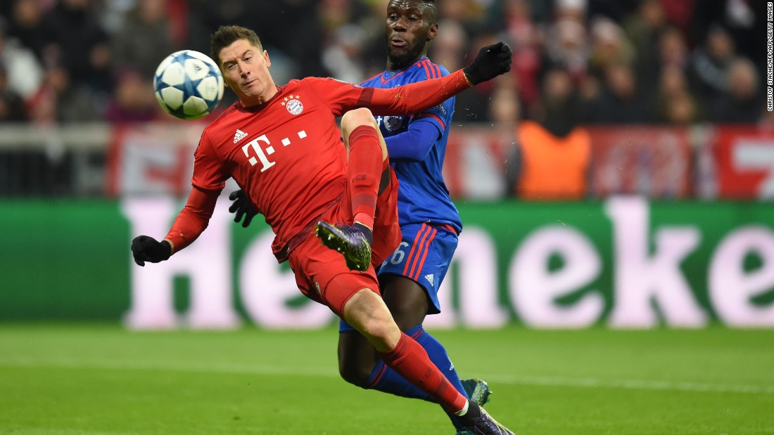 But runaway Bundesliga leaders Bayern have prolific striker Robert Lewandowski in their lineup -- a danger to any defense. Bayern is coached by Pep Guardiola, who led Barcelona to two Champions League triumphs in 2009 and 2011.