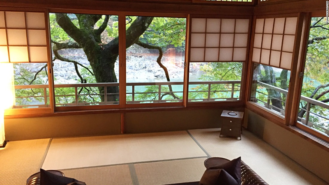 The guest rooms of the century-old, renovated ryokan are the heart of the traditional inn experience.