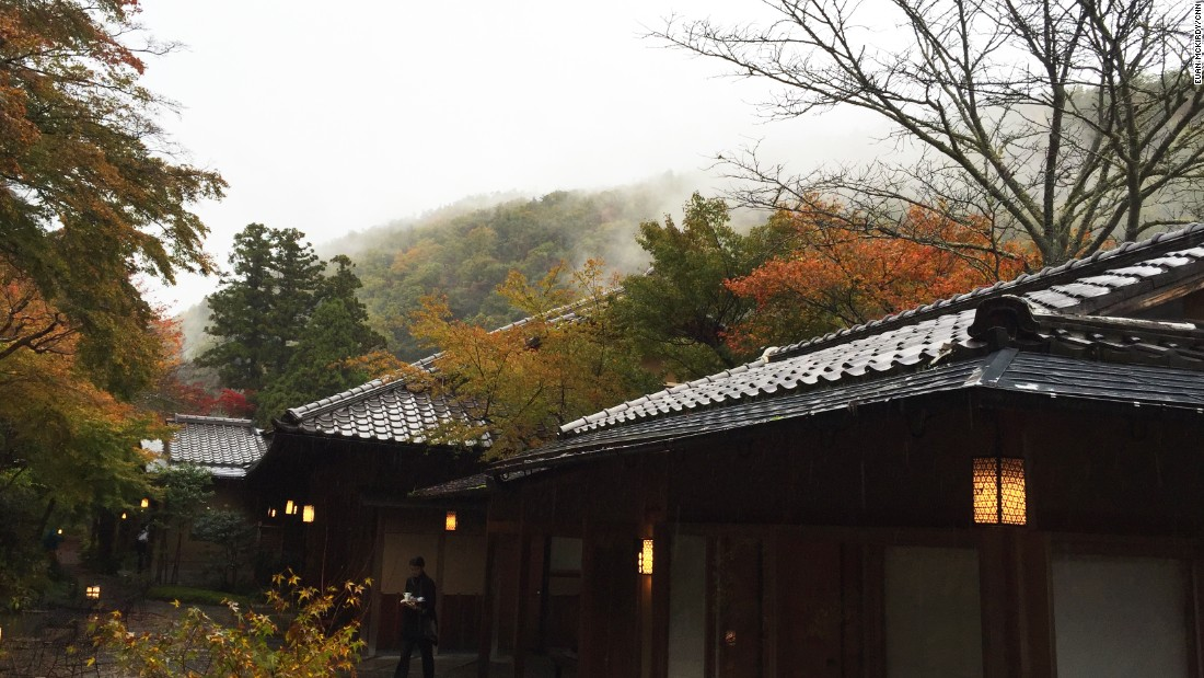 "The changeable weather -- ""Arashiyama"" means ""storm mountain"" in Japanese -- makes Hoshinoya particularly atmospheric."