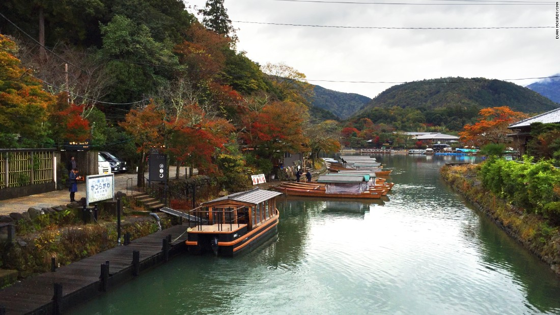 The Hoshinoya ryokan, nestled on the banks of Kyoto's Katsura river, can only be accessed by riverboat or a footpath that takes 20 minutes to traverse.
