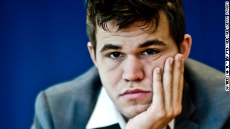 Norwegian chess genius Magnus Carlsen attends a press conference in Oslo on October 1, 2013. Carlsen, ranked world number one, will play the title match against Chennai-based reigning world champion Viswanathan Anand of India in his home town from November 7 to 28.    AFP PHOTO / DANIEL SANNUM LAUTEN        (Photo credit should read DANIEL SANNUM LAUTEN/AFP/Getty Images)