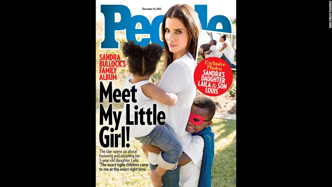 "Sandra Bullock has welcomed a new daughter, Laila, to her family, <a href=""http://celebritybabies.people.com/2015/12/02/sandra-bullock-adopts-daughter-laila-people-exclusive-cover/"" target=""_blank"">she told People magazine.</a> Laila, 3, who was in foster care in Louisiana, joins son Louis, 5."