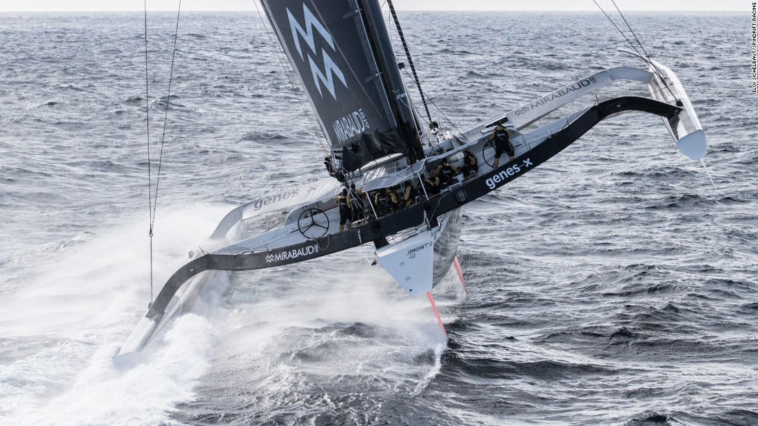 Swiss businesswoman Dona Bertarelli is attempting to break the record for the fastest time circumnavigating the globe -- otherwise known as the Jules Verne Trophy.