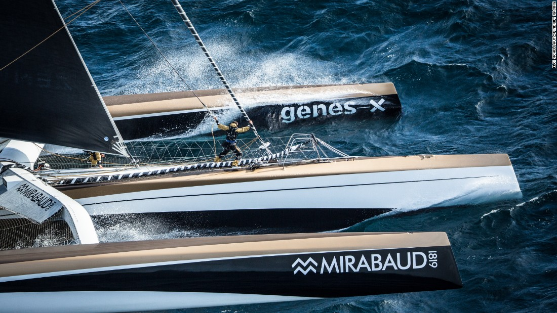 """So we abandoned that project quite quickly and when Spindrift 2 -- which was the ex Banque Populaire 5 -- came for sale then we said, 'Okay but what about breaking records, what about offshore sailing?'"""
