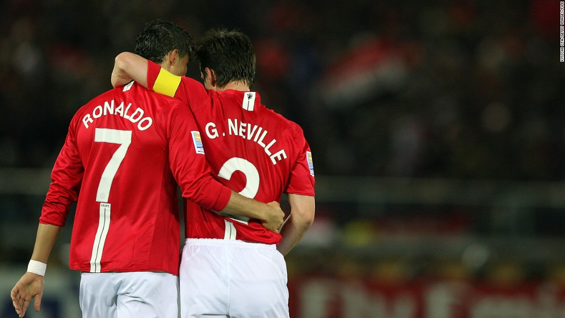 Neville won his second Champions League title in 2008 when a Cristiano Ronaldo inspired United beat Chelsea on penalties in Moscow.
