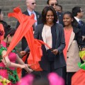 xian city wall michelle obama 2014
