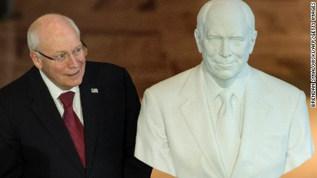 Former US Vice President Dick Cheney during a dedication ceremony at Emancipation Hall of the US Capitol Visitor Center on December 3, 2015 in Washington, DC