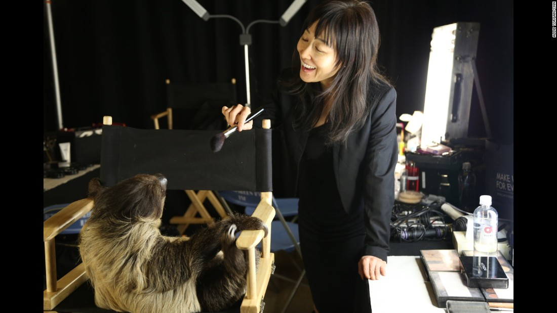 Of course, before her onstage appearance, Snooki had to make a pit stop in the makeup chair.  Okay, not really.