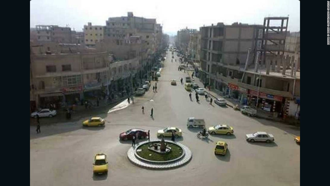 In this undated photo, provided to CNN by RBSS, you can see normal life in Raqqa -- once one of Syria's most liberal cities -- before the start of the civil war.