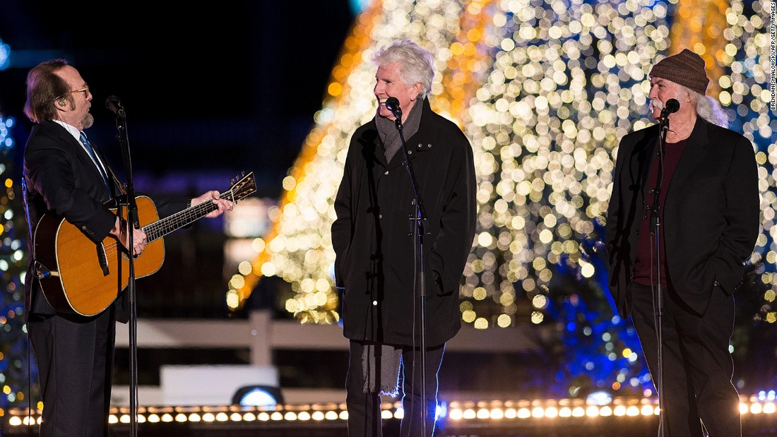 Crosby, Stills & Nash perform at the National Christmas Tree lighting ceremony.