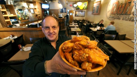 3 Feb 2011 Duff's Famous Wings restaurant closes it's dining room on Super Bowl Sunday in order to fill orders for 25,000 wings - Duff's biggest one day of sales every year. In this pic, Hy Erlich, who with his twin brother runs the three GTA Duffs restaurants. Photo Keith Beaty (Photo by Keith Beaty/Toronto Star via Getty Images)