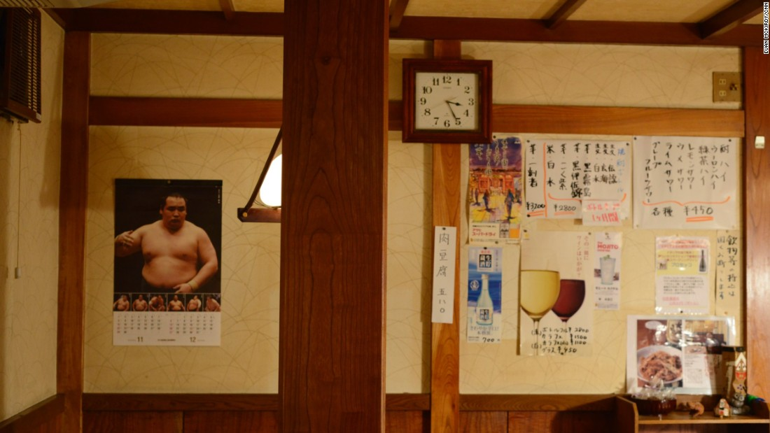 """Japanese people aren't as interested in sumo as they used to be,"" one woman told CNN in Mizuguchi, a shokudo (Japanese home-style cooking) restaurant in the Asakusa neighborhood. A big flat screen TV dominates one wall, and the owner is known for her rich knowledge of the sport.<br /><br />The customer, who asked that CNN not use her name, said: ""Like most sports in Japan, it's becoming more international. The Japanese (wrestlers) aren't hungry. The Mongolians are hungry."""