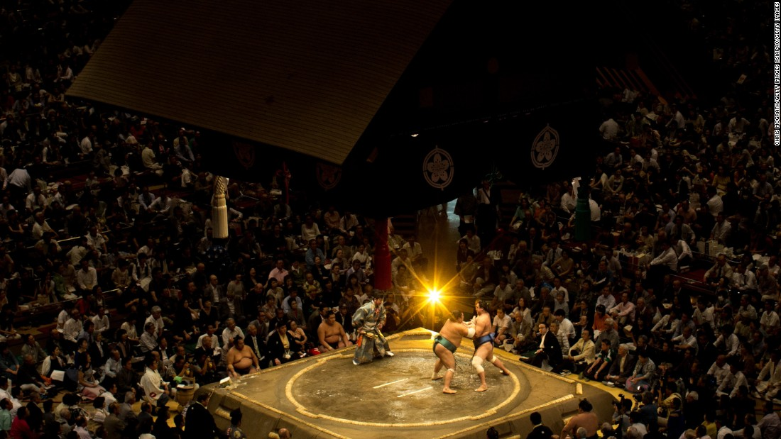 The spiritual home of the sport is the Ryogoku Kokugikan in Sumida Ward, Tokyo. It hosts the Spring, Summer and Autumn tournaments.  The original Kokugikan was built in the early 20th century, as the sport gained popularity in Meiji-era Japan. <br /><br />Now the sport needs to compete with Japan's other two major spectator sports, baseball and soccer. While there are sumo clubs for all ages, and a competitive varsity-level league, interest in the sport, which requires intense dedication and levels of privation that many young Japanese are not willing to endure, is waning and the top echelons of the sport dominated by overseas wrestlers.