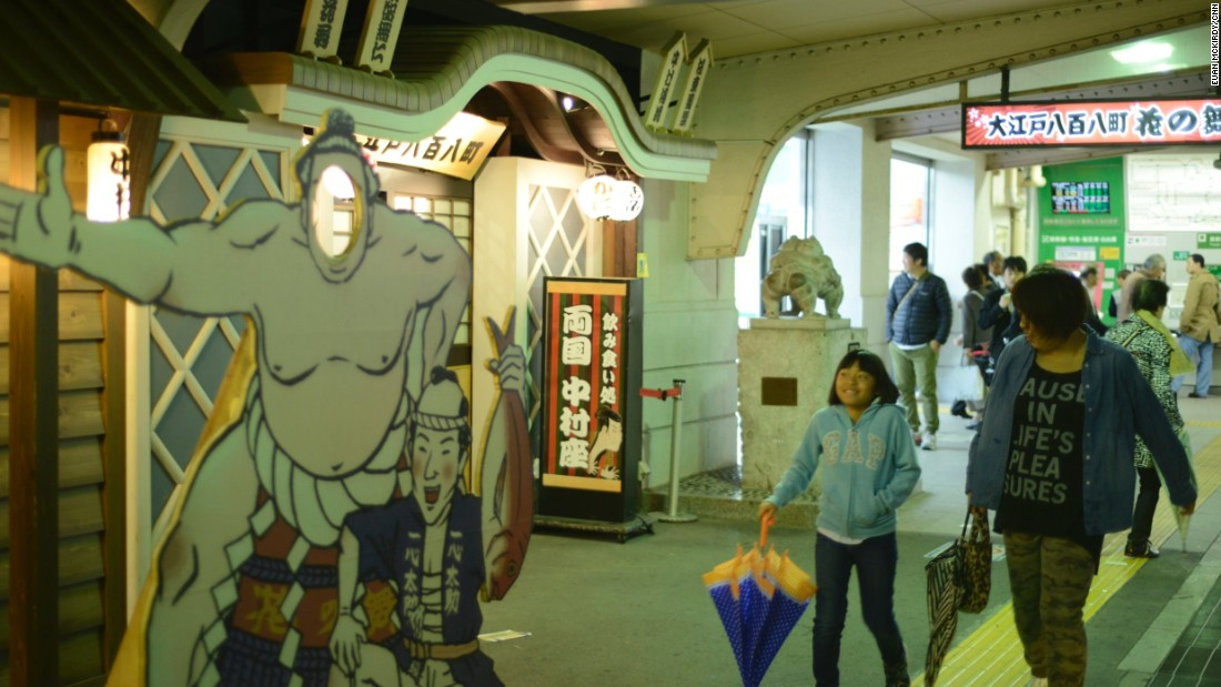 The area around the Kokugikan is rife with sumo memorabilia and themed restaurants. Alongside the Edo-Tokyo museum, the stadium is one of the main draws for fans. <br /><br />The sport is becoming more internationalized -- the three yokozuna are all Mongolian, and a Bulgarian, who wrestled under the nom de guerre Kotooshu, was the first European to win the Emperor's Cup.<br /><br />Japan and Mongolia's wrestling traditions share a lot in common, and as a result there have been more wrestlers from the landlocked Asian nation entering the ranks.