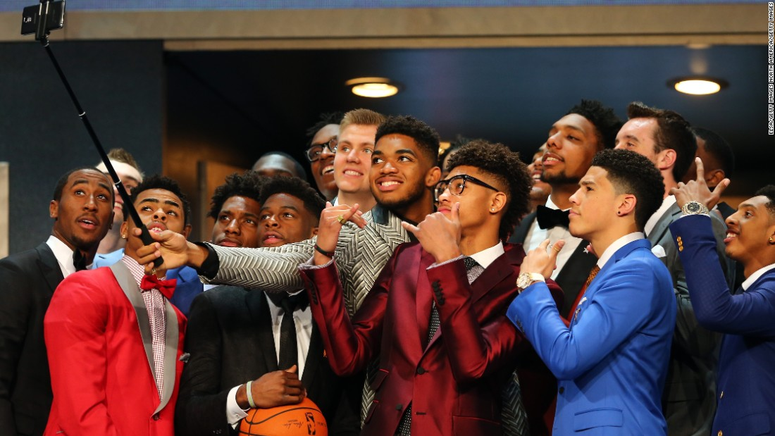 NBA newcomers, such as this group at the 2015 Draft in New York, face tough decisions even before their first pro games. Most seek the advice of professional fashion consultants to deck them out for the big night.