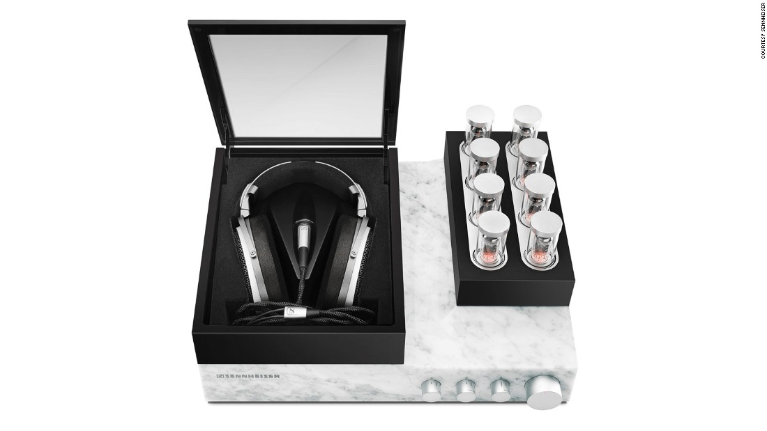 "The <a href=""http://en-uk.sennheiser.com/orpheus"" target=""_blank"">Orpheus</a> are not your average luxury headphones. The price tag is a hefty $55,000, but for that you get what might just be the greatest personal listening experience available in the world. The electrostatic reference headphones are closer to a work of art than a piece is technology. They come with an amplifier crafted from a single block of marble, with an eight-channel vacuum tube pre-amp rising up out of it when switched on. Each headphone diaphragm is platinum-coated, and the Orpheus' cables are silver-plated, oxygen-free copper. There's no prescribed number Sennheiser say they'll make, but due to the intensive, handmade production process, the team behind the Orpheus can only make 250 sets a year."