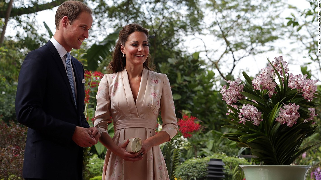 Catherine, Duchess of Cambridge and Prince William, Duke of Cambridge visited Singapore Botanical Gardens in 2012 and were welcomed with an orchid named in their honor.