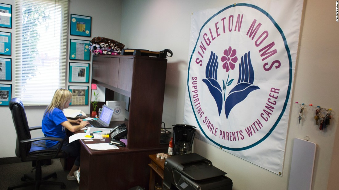 """Farley-Berens says her group aims to help parents """"focus on what's important, which is their health and their family."""" She hopes to start new chapters of Singleton Moms in other states."""
