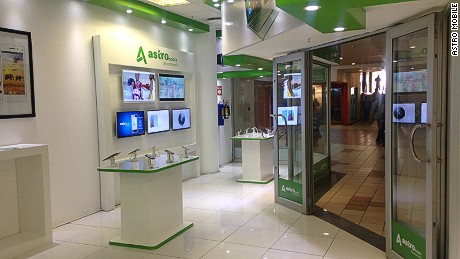 An Astro Mobile retail space